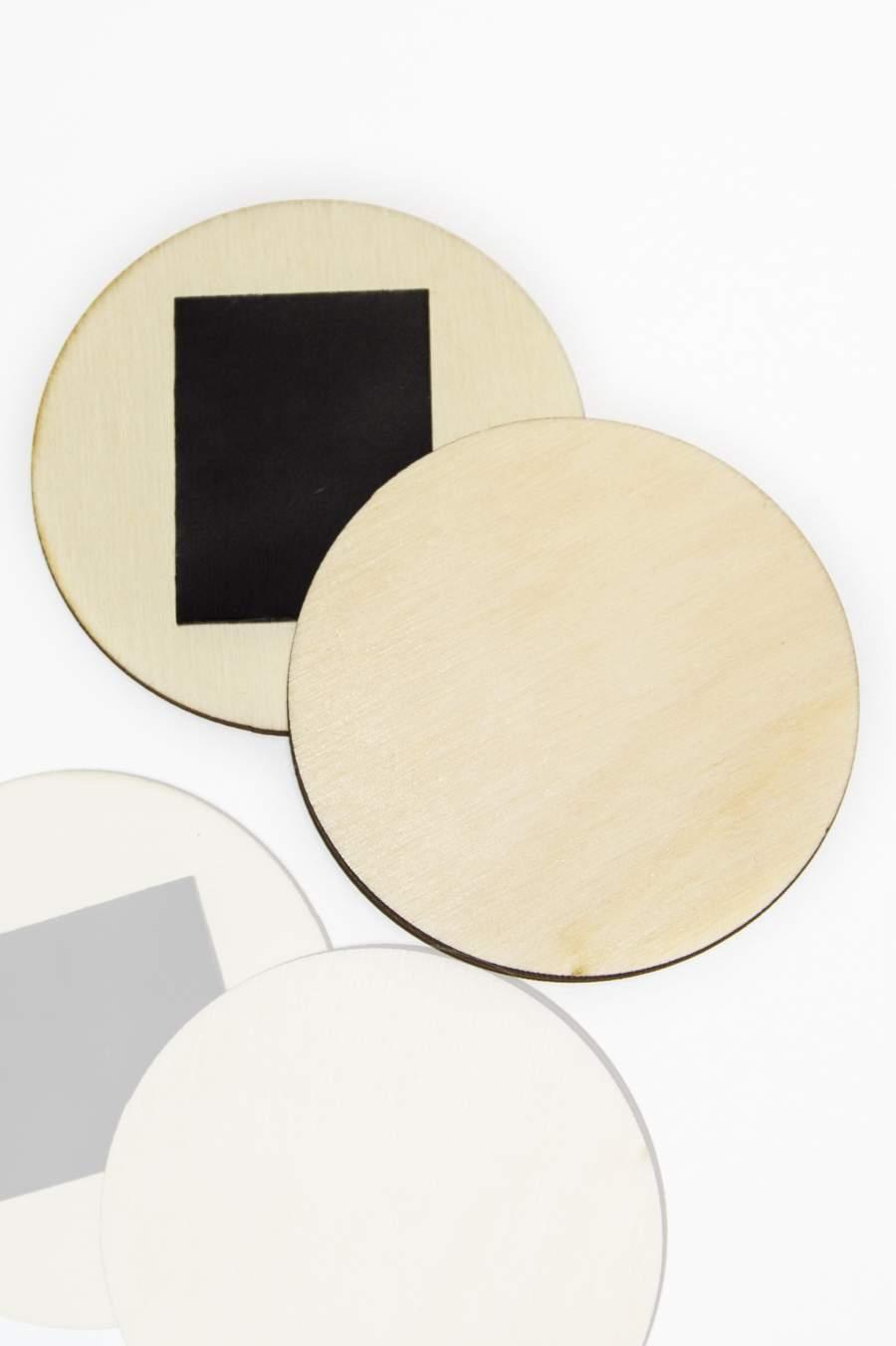 100. Dřevěná magnetka na ledničku - základní materiál, kruhový plátek Ø65