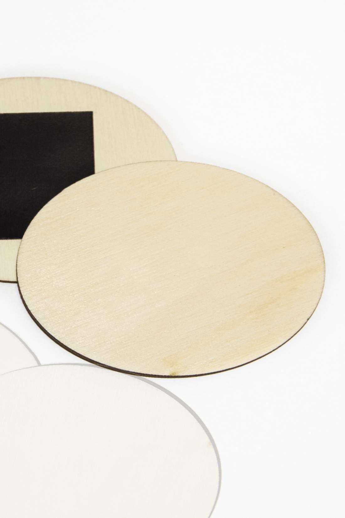 101.1 Dřevěná magnetka na ledničku - základní materiál, oválný řez 70x50mm