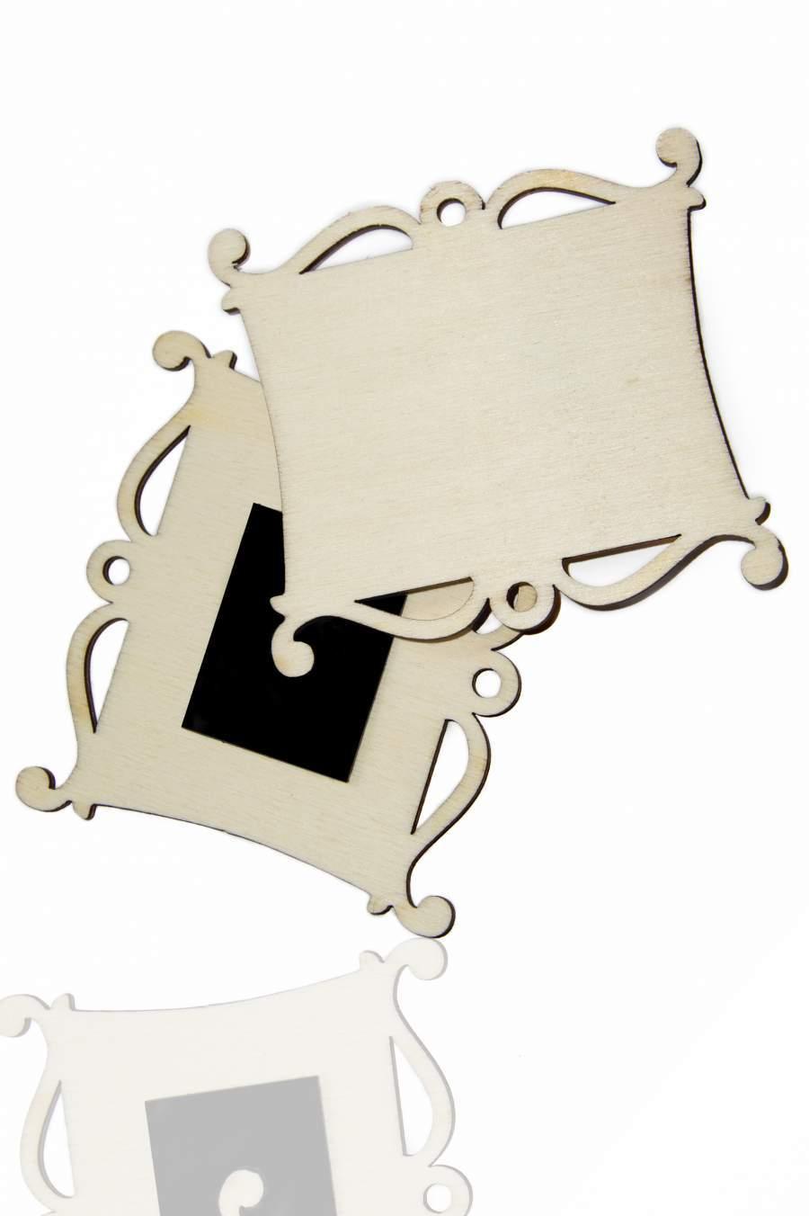 105. Dřevěná magnetka na ledničku - základní materiál 82x76mm