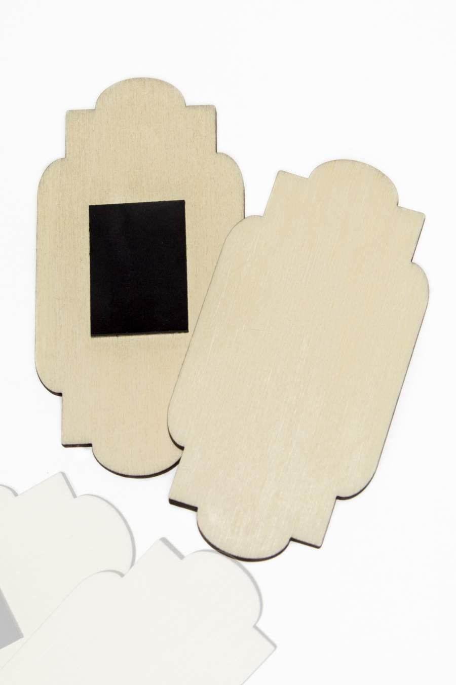 108. Dřevěná magnetka na ledničku - základní materiál 90x46mm