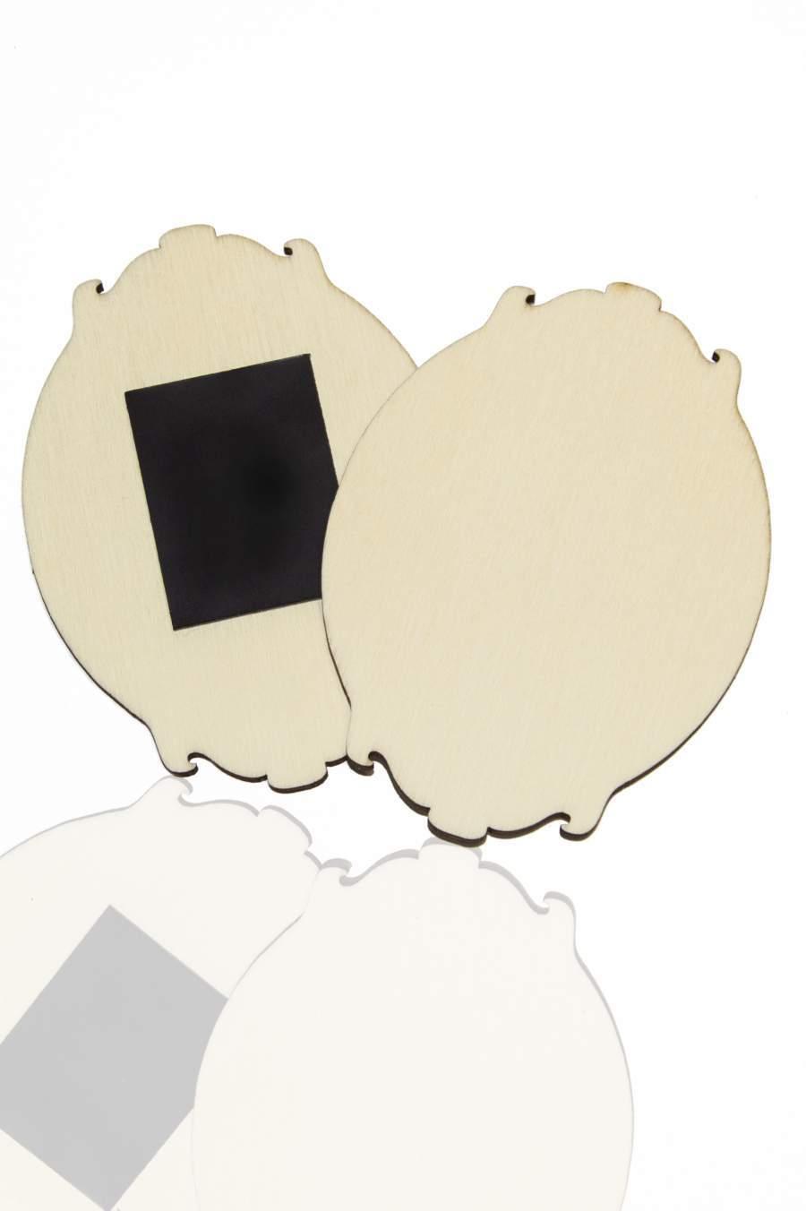 115. Dřevěná magnetka na ledničku - základní materiál 90x65mm